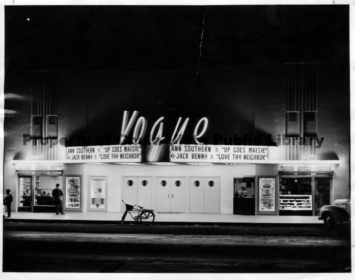 picture of the historic Vogue Theater